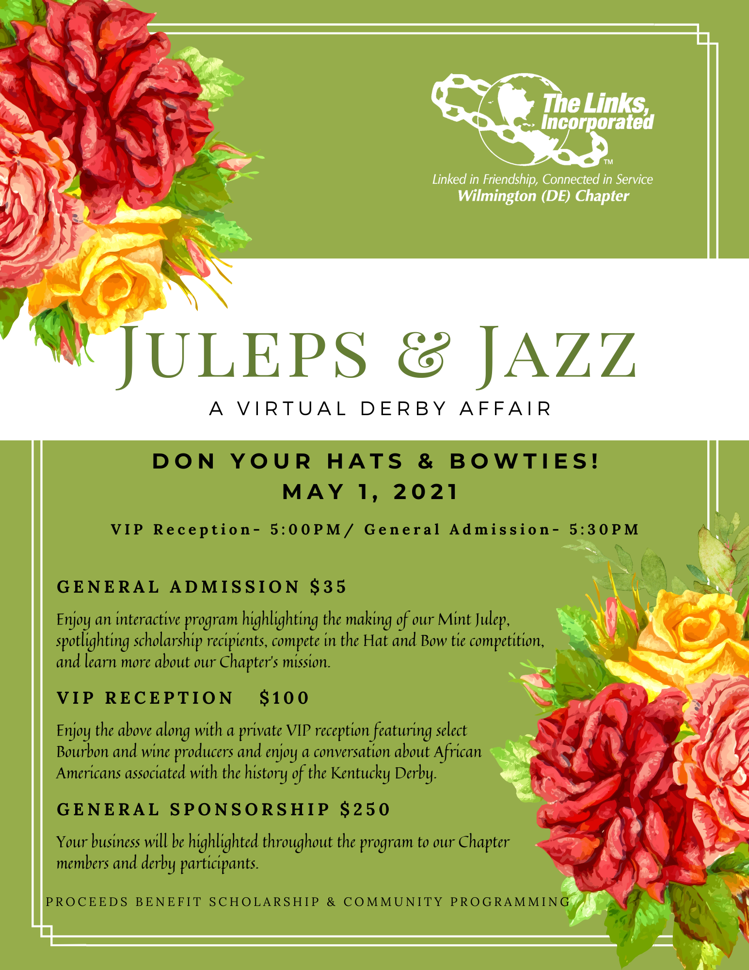 Juleps & Jazz - A Virtual Derby Affair 2021